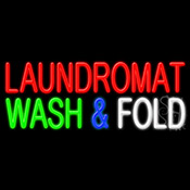 Laundromat Wash And Fold Neon Sign